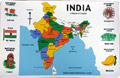 Map of India Placemat SET - English